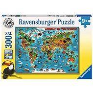 Ravensburger 132577 Ilustrovaná mapa světa - Puzzle