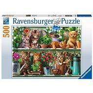 Ravensburger 148240 Kočky na knihovně - Puzzle