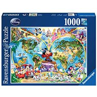 Ravensburger 157853 Disney Mapa světa - Puzzle