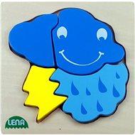 Lena Dřevěné puzzle - bouřka - Puzzle