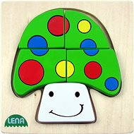 Lena Dřevěné puzzle - houba - Puzzle