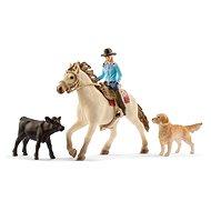 Schleich 42419 set westernová jezdkyně se zvířátky - Figurka