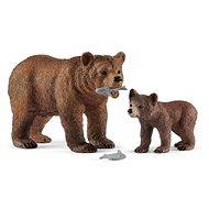 Schleich 42473 Medvědice Grizzly s mládětem - Figurka