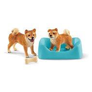 Schleich 42479 Fenka a štěně Shiba Inu - Figurka
