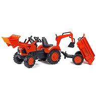 Traktor s přední a zadní lžící - Šlapací traktor