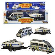 Policejní auto s přívěsem a lodí - Auto
