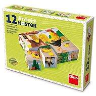 Dino Domácí zvířátka 12 kostek