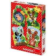 Dino Krteček 4x12 dílků - Puzzle
