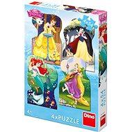 Dino Princezny a kamarádi 4x54 dílků - Puzzle