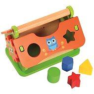 Vkládačka, dřevěný domeček - Didaktická hračka