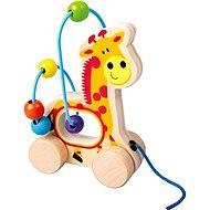 Tahací hračka Tahací žirafa, dřevěný labyrint