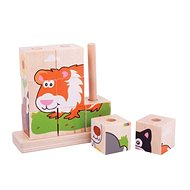 Bigjigs Stacking Puzzle Pets - Wooden Blocks