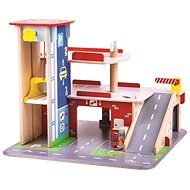 Bigjigs Toys Garáž s parkovištěm - Herní set