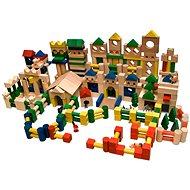 EkoToys Kostky barevné 500 ks - Dřevěné kostky