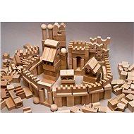 EkoToys Kostky přírodní 220 ks XL - Dřevěné kostky