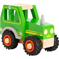 Small Foot Traktor zelený - Dřevěná hračka