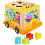 Small Foot Motorická kostka školní autobus - Dřevěná hračka
