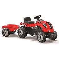 Smoby Farmer XL Tractor, with Trailer, Red - Pedal Tractor