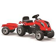 Smoby Farmer XL červený s vozíkem - Šlapací traktor