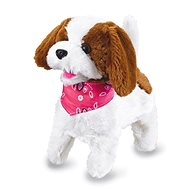 Jamara Plush Dog, White-Brown with Remote Control - Interactive Toy