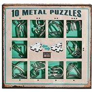 Sada 10 hlavolamů kov zelená - Hlavolam