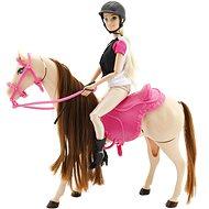 Kůň hýbající se + panenka žokejka