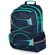OXY Sport Black Line green - Školní batoh