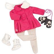 Our Generation Sněhová kráska – růžový kabátek s kožešinovým límcem - Příslušenství k panence