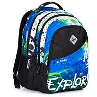 Daniel blue Rainbow 2v1 - Školní batoh