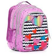 Anna Purple hearts 2v1 - Školní batoh