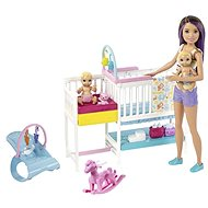 Barbie Herní set dětský pokojík - Panenka