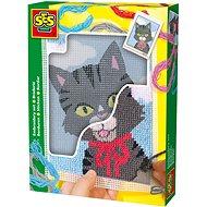 SES Vyšívaní dečky – kočička - Kreativní sada