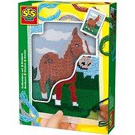 SES Vyšívání dečky – kůň - Kreativní sada