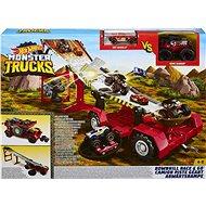 Hot Wheels Monster Trucks Závod z kopce 2v1 - Herní set