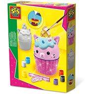 SES Sádrový odlitek cupcake a malování s glitry - Malování pro děti