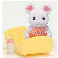 Sylvanian Families Baby Marshmallow myška s příslušenstvím - Herní set