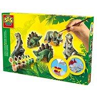 SES Sádrový trojkomplet – dinosauři - Kreativní sada