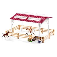 Schleich 42344 Stable with horses and accessories in pastel colours - Game Set