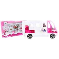 Velký bílý karavan pro panenky - Auto