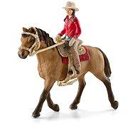 Schleich 42112 Westernová jezdkyně na koni - Figurky