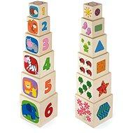 Dřevěná stavěcí vež - Dřevěná hračka