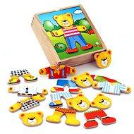 Dřevěné oblékání - medvídek - Dřevěná hračka