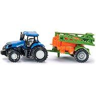 Siku Super – traktor s přívěsem na rozprašování hnojiva - Kovový model