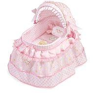 DeCuevas Toys Postýlka pro pannenky s polštářkem a vyšívanými krajkami Maria - Nábytek pro panenky