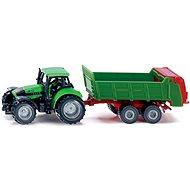 Siku Blister – Traktor s univerzální vlečkou - Kovový model
