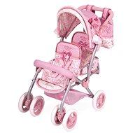 DeCuevas Toys Skládací kočárek pro dvojčata panenky Martina-S - Kočárek pro panenky