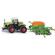 Siku Farmer – traktor se secím přívěsem - Kovový model