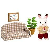 Sylvanian Families Nábytek chocolate králíků – taťka na pohovce - Herní set
