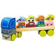 Cubika 13418 Kamion s auty  - Dřevěná hračka
