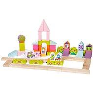 Cubika 13906 Pohádkové město - Dřevěná hračka